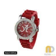 Alabama-Crimson-Tide-Ladies-Petite-Jelly-Watch