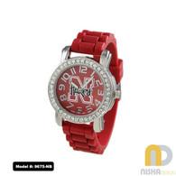 Nebraska-Cornhuskers-Small-Ladies-Jelly-Watch