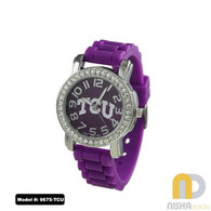TCU-Horned-Frogs-Petite-Jelly-Watch