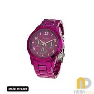 Hot-Pink-Sports-Bezel-Aluminum-Metal-Watch