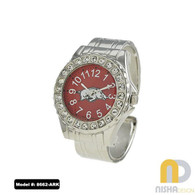 Arkansas-Razorbacks-Ladies-Cuff-Watch-Metal