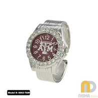 Texas-A-and-M-Metal-Cuff-Watch