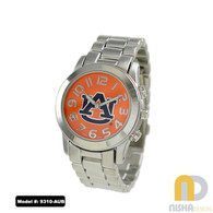 Auburn-Tigers-Ladies-Metal-Watch