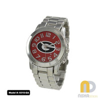 Georgia-Bulldogs-ladies-metal-watch