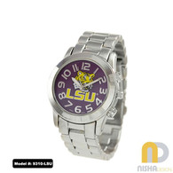 LSU- Tigers-Ladies-Metal-Watch