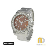 Texas-Longhorns-ladies-metal-cuff-watch