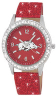 Arkansas-Razorbacks-glitter-watch