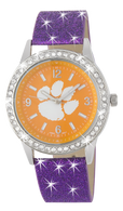 Clemson-Tigers-Glitter-Watch
