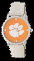 Clemson-Tigers-Vegan-Leather-Watch