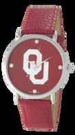 Oklahoma-Sooners-OU-Vegan-Leather-Watch