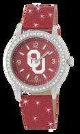 Oklahoma-Sooners-OU-Glitter-Band-Watch