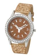 Texas-Longhorns-Ladies-Glitter-Watch