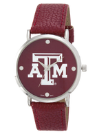 Texas-A-and-M-vegan-leather-band-watch