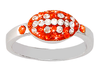 Bright-Orange-and-white-crystal-football-ring