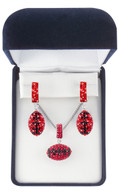 Red-and-black-football-jewelry-boxed-set
