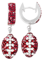 maroon-and-white-crystal-football-earrings