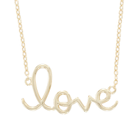 Nisha-Design-script-love-necklace-in-silver-with-yellow-gold-vermeil-overlay