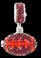 Maroon-and-orange-football-charm-pendant