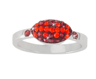 Maroon-and-orange-crystal-football-ring