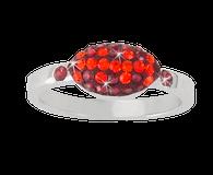 Maroon-and-orange-crystal-football-ring