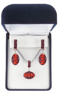 Maroon-and-orange-football-jewelry-set