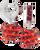 maroon-and-orange-crystal-basketball-earrings