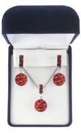 Maroon-and-Orange-basketball-jewelry-set-from-Nisha Design