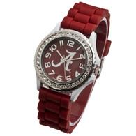 Alabama-Crimson-Tide-Ladies-Jelly-Watch