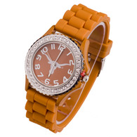 Texas-Longhorns-Jelly-Watch-Orange-Color