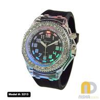 Black large size light up jelly watch