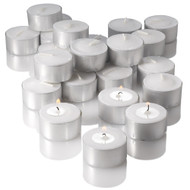 7 Hour Tealight Candles Extended Burn White 7hr Unscented Tealights Long Burning Candles Set of 400