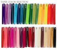 "18"" Colored Taper Candles (Individually Cello Wrapped) drip less - smoke less  (144 Pieces/Case)"