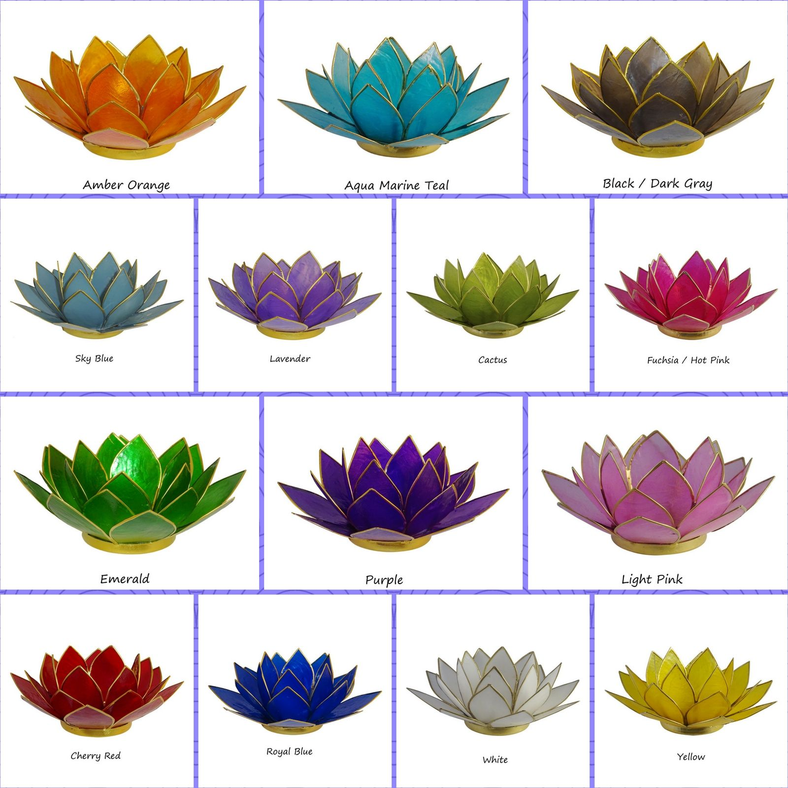 New colors lotus tea light candle holders the crabby nook mightylinksfo Gallery