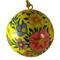 hand painted yellow ornament