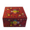 hand painted red wood trinket box