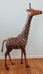 leather giraffe statue