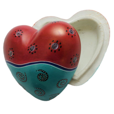Stone Heart Trinket Keepsake Box African Art