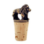 Lion figurine brass wine bottle stopper