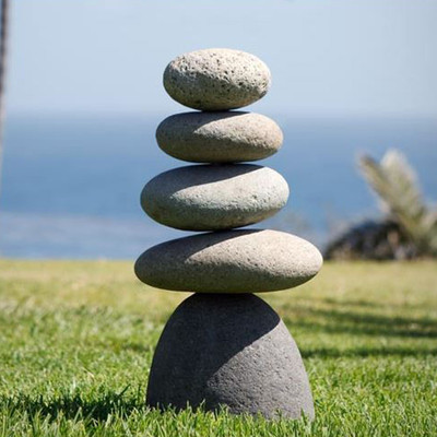 "Small to Giant Balance Rock Cairn 17"" Inspirational Zen Garden Pile Natural River Stones"