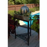 Stainless Steel Triangle wrought iron stand Tabletop Fountain