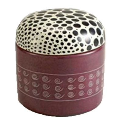 Decorative Stone Keepsake Painted Lid Round Shape Box
