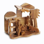 olive wood nativity statue