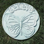 believe garden stepping stone