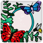 butterflies and fern photo magnet