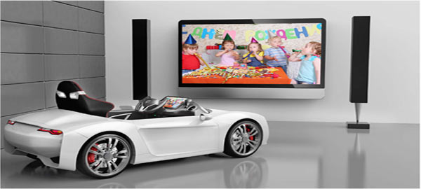 broon kids car connects to big screen