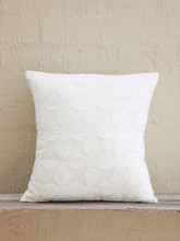 White Applique Cushion - Flower Design