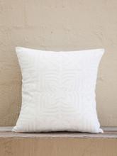 White Applique Cushion -Square Design
