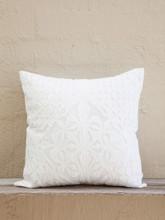 White Applique Cushion - Diamond Design