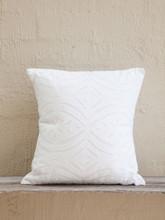 White Applique Cushion - Petal Design