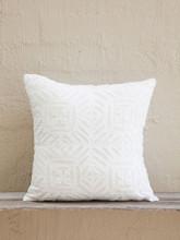 White Applique Cushion - Cross Design